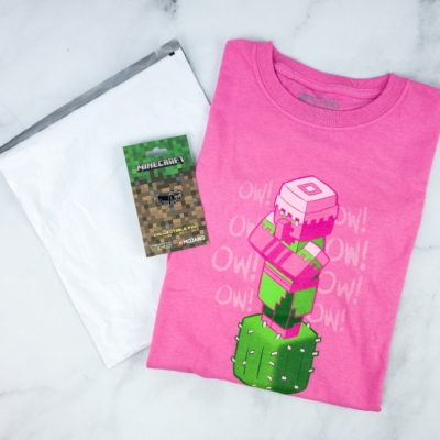 Minecraft T-Shirt Club May 2020 Review + Coupon!