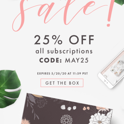 Bombay & Cedar  Flash Sale: Get 25% Off ALL Subscriptions – Lifestyle & Beauty! TODAY ONLY!