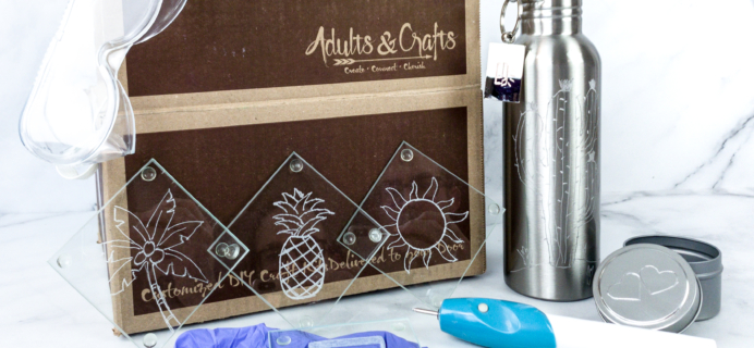 Adults & Crafts Subscription Box Review + Coupon – ENGRAVING KIT