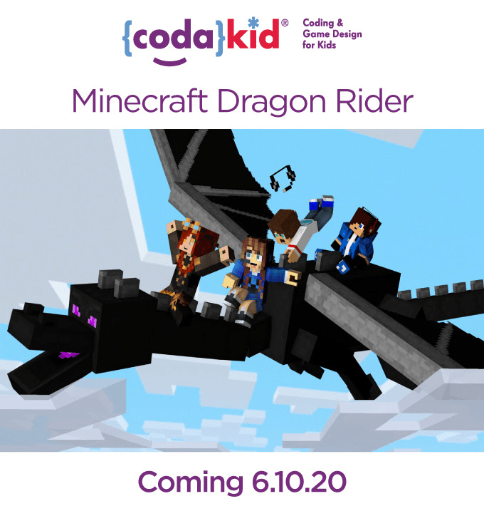 CodaKid Minecraft Dragon Rider Course Coming Soon + FREE Trial Coupon!