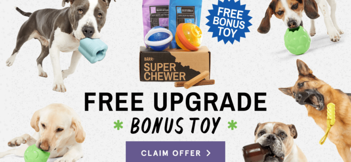 BarkBox Super Chewer Coupon: Get FREE Extra Toy With Subscription!