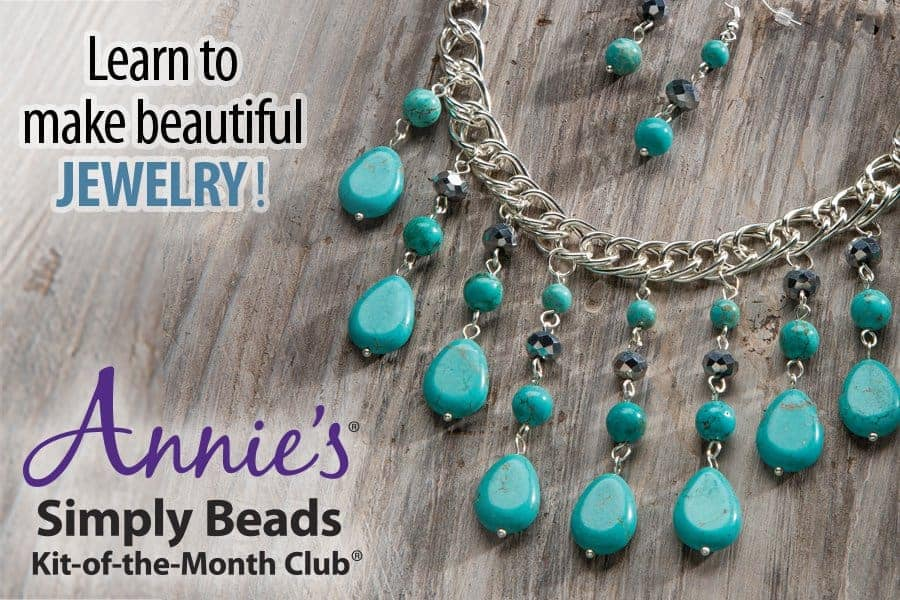 Annie 39 s simply beads kit of the month club hello for Step by step wire jewelry subscription
