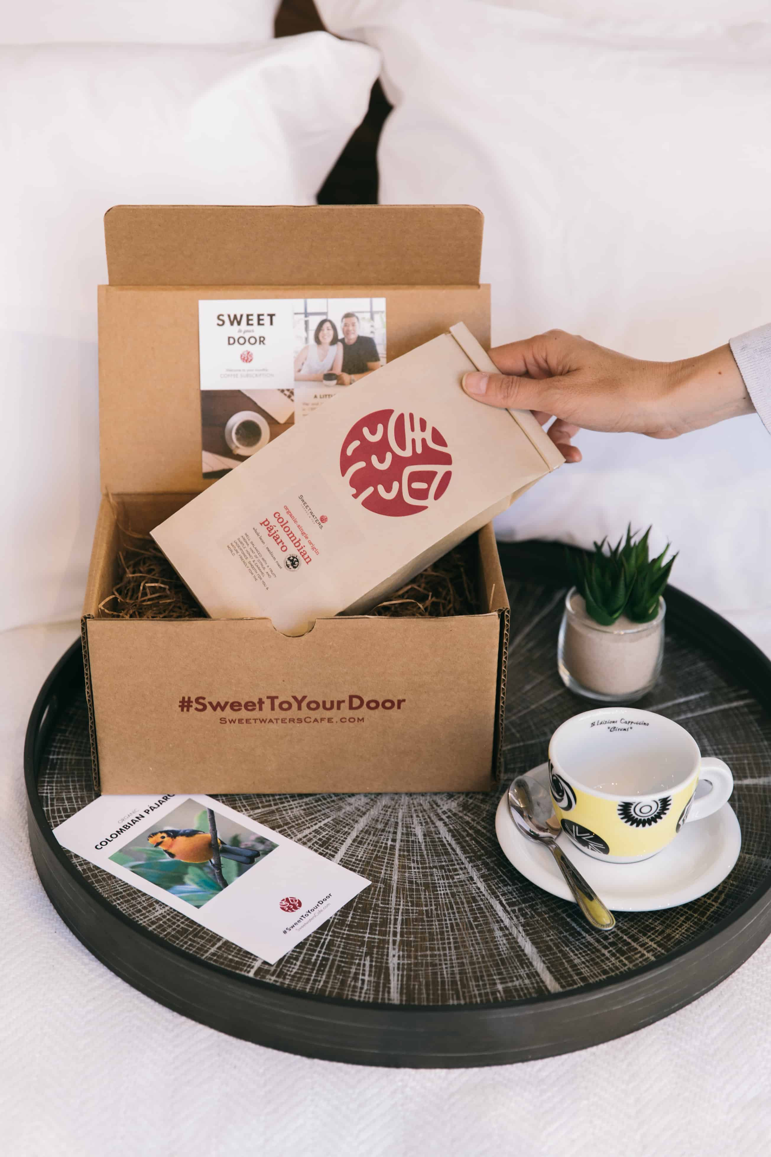 sweet to your door coffee subscription hello subscription. Black Bedroom Furniture Sets. Home Design Ideas