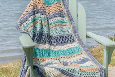 Annie's Crochet Striped Afghan Club