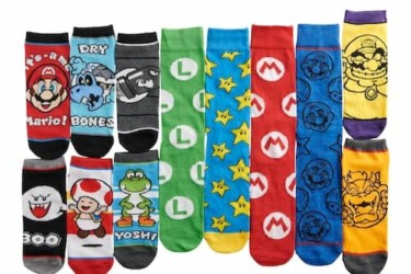 Super Mario Socks Advent Calendar